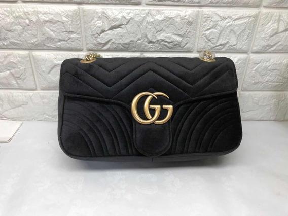 Bolsa Gucci Marmont Veludo Premium