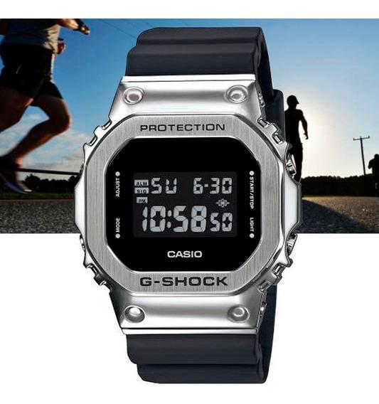 Relógio Casio G-shock Digital Gm-5600-1dr Prata E Preto