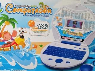 Computador Didáctico Azul De Pirata/niño 180 Funciones