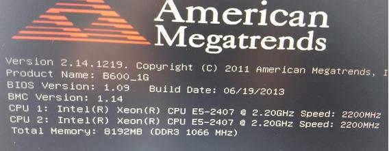 Servidor Intel Dual Xeon E5-2407 - 8gb De Memoria C/trilhos