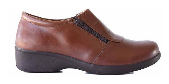 Zapatilla Cuero Briganti Zapato Mujer Cierre Goma Mczp05268