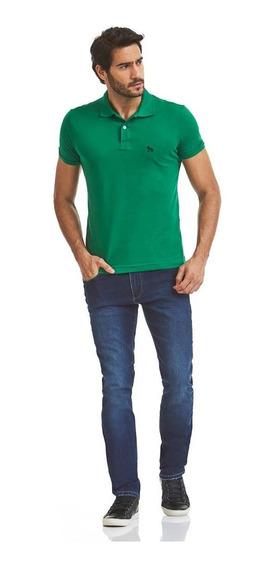 Pólo Acostamento Masculino Verde