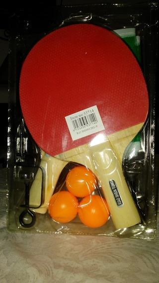 Set De Raquetas Y Pelotas De Ping Pong Con Malla Incluida