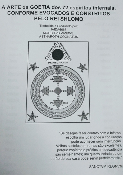 Apostila Goétia: A Arte De Evocar (goécia, Ars Goetia)