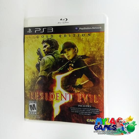 Resident Evil Evil 5 Gold Edition Ps3 Midia Física *usado*