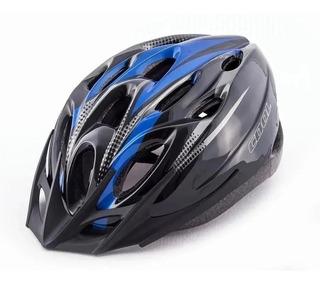 Casco Bicicleta Cool Azul Negro Rcmdr