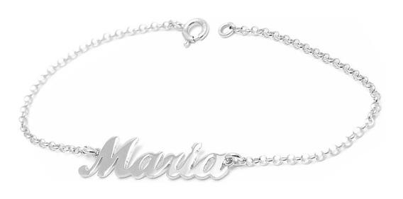 Bracelete De Prata 925 Com Nome Personalizado Feminina