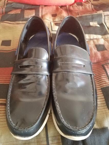 Zapatos Mocacines Zara Un Par Usos Cuero Hombre
