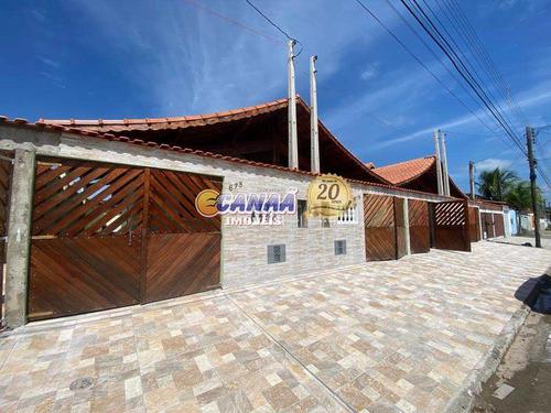 Casa Com Piscina Em Mongaguá - V8147
