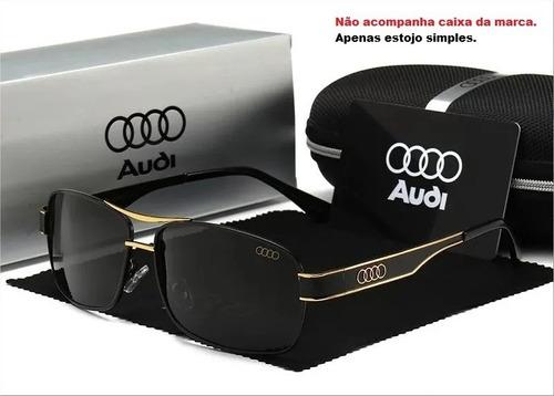 Óculos De Sol Masculino Audi Lente Polarizada Proteção Uv400