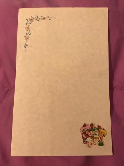 Papel De Carta Frutillitas Coleccionable Años 80