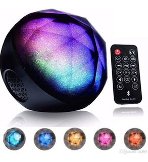 Parlante Bluetooth Color Ball Con Control Remoto