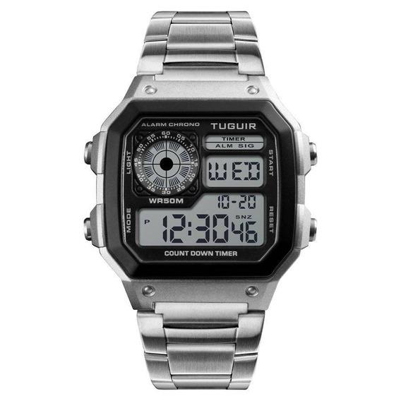 Relógio Tuguir Digital Tg1335 Acompanha Nota E Garantia 1 An