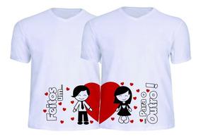 Camisa Personalizada Casal, Namorados, Fofo, Romântico 2 Un