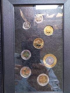 Set 8 Monedas Nuevos Pesos N$ Espejo Proof 1995 Sin Circular