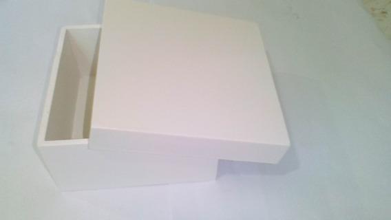 12 Caixa Quadrada Tampa Sapato Pintado 25x25x10 Mdf Madeira
