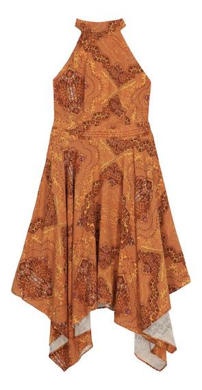 Vestido De Mujer C&a Asimétrico Estampado Étnico