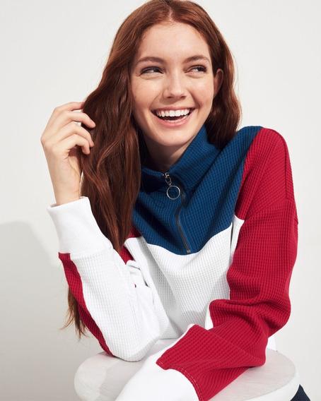 Camiseta Feminina Hollister Listrada Lisa Frete Gratis
