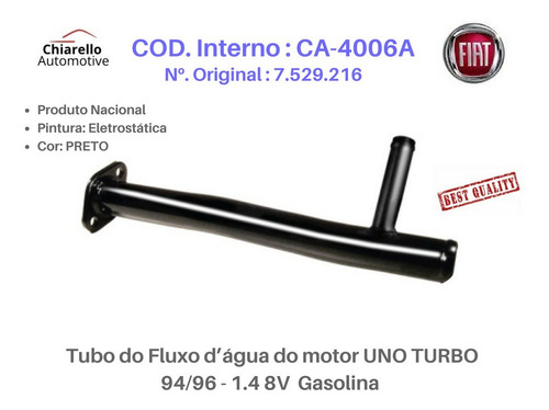 Tubo De Refrigeração Uno Turbo 1.4 Turbo 8v 94/96 - Gasolina