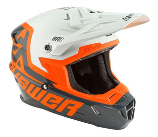 Casco Answer Racing Ar1 Voyd Motocross Gris/naranja