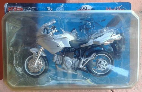Lsjp Miniatura Moto Ducati 1000 Ds Prata Escala 1.18
