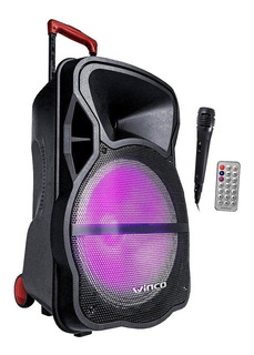 Parlante Portatil Bateria +12v Usb Bluetooth 5000w Radio Microfono Karaoke Luces Led Inalambrico Bateria Y 220v + Sonido