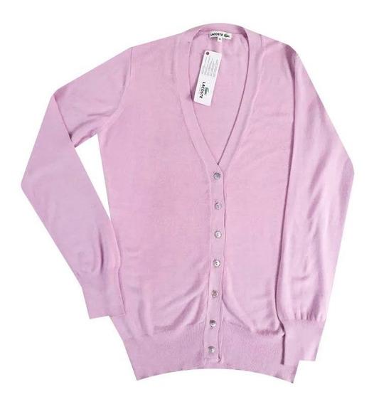 Sweater, Cardigan, Lacoste, Mujer, Escote En V, Af0526