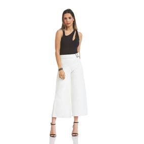 Calça Acostamento Feminino Fashion Off White