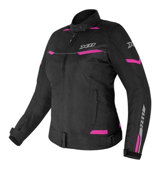 Jaqueta X11 Feminina Guard2 Com Proteção Moto Motociclista