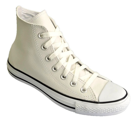 Zapatilla Botita Converse All Star European Hi Cuero Blanco