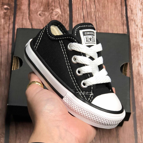 Tenis Converse All Star Infantil Preto Original