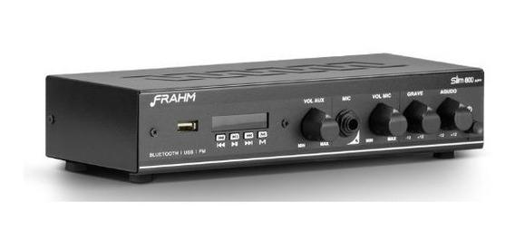 Amplificador Receiver Para Som Ambiente Frahm Slim 800 App