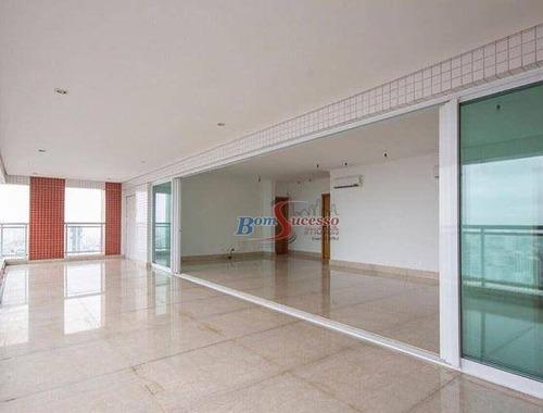 Apartamento Com 4 Dormitórios À Venda, 280 M² Por R$ 3.100.000,00 - Jardim Anália Franco - São Paulo/sp - Ap2257