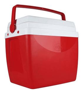 Caixa Térmica 26 Litros Vermelha Com Alça Mor
