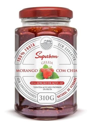 Imagem 1 de 6 de Geleia 100% Morango Com Chia