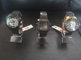 Kit Com 7 Relógios Variados. Marcas Skmei, Curren E Smart