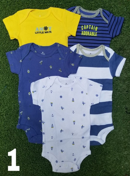 Set De 5 Bodys Carters, Body O Ropa Carters Para Bebe