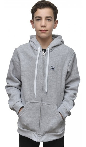 Campera Billabong School Zip Hood Gris Niño