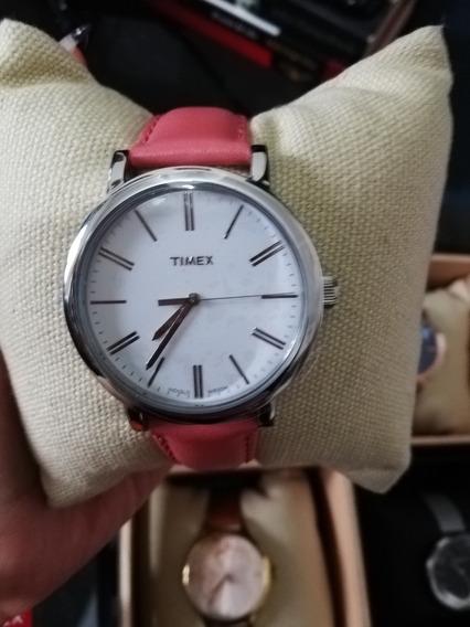 Reloj Timex Dama Original Nuevo Color Salmon