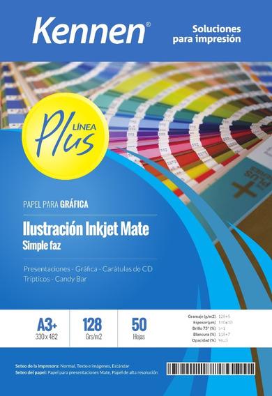 Papel Ilustración Inkjet Mate 128gr A3+ 100 Hojas