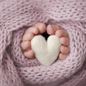 Coração Newborn Para Acompanhamento Para Fotografia