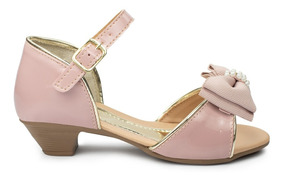 Sandalia Salto Infantil Menina Feminino Calçados Festa 34