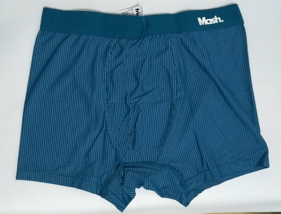 Cueca Mash Boxer Az07 045.00 Azul Listras Masculina