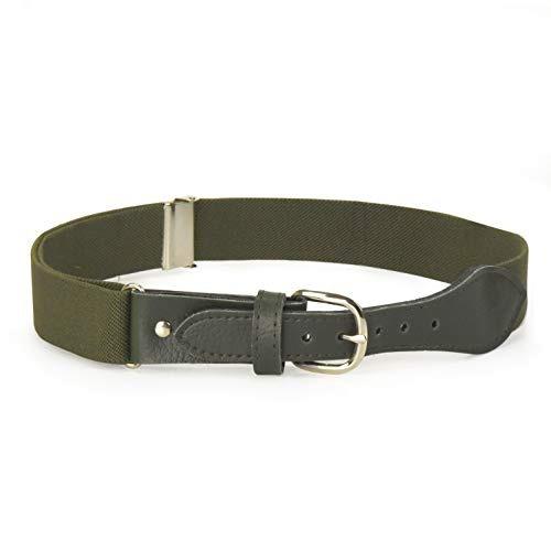 Cinturon Ajustable Elastico Para Ninos Con Cierre De Cuero -