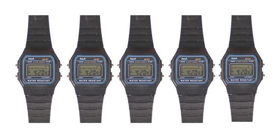 Kit 5 Relógio Aqua Aq 81 Prova D