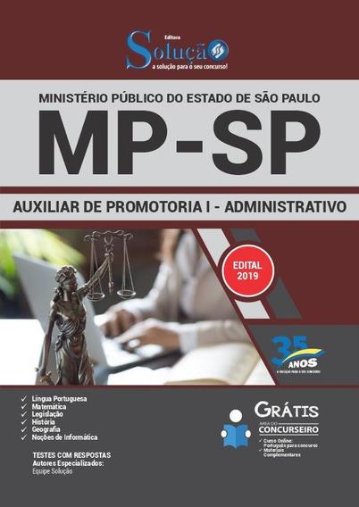 Apostila Mp Sp 2019 Auxiliar Promotoria I - Adm