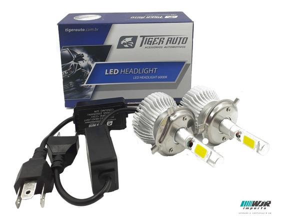 Kit Lampada Super Led H4 4400 Lumens