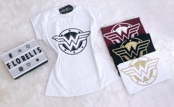Kit Com 10 Camisetas Blusa T-shirt Feminina Atacado
