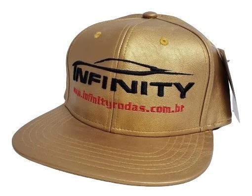Boné Infinity Rodas Aba Reta Snap Back Funk Dourado 3030
