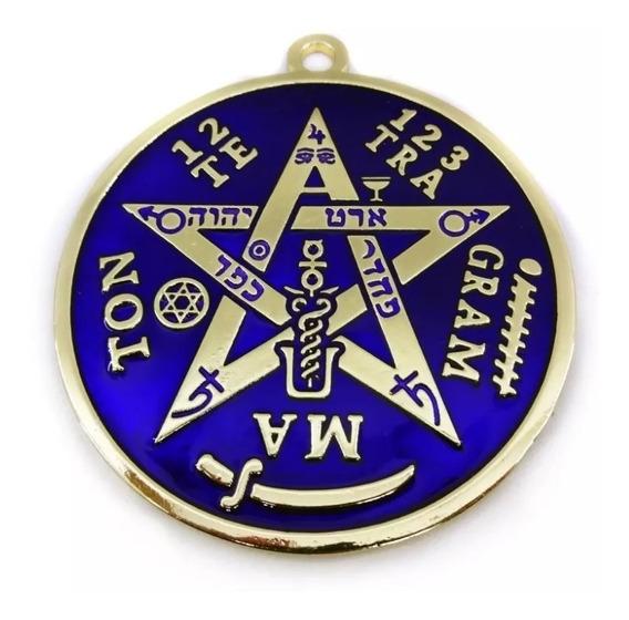 Pentagrama Parede Altar 10 Cm Dourado